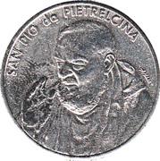 Token - S. Pio da Pietralcina – reverse