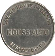 Car Wash Token - Mouss'auto Buxerolles 86 – obverse