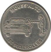 Car Wash Token - Mouss'auto Buxerolles 86 – reverse