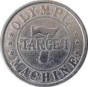 Gaming Token - 7 Target Olympia Machine – obverse