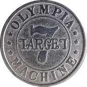 Gaming Token - 7 Target Olympia Machine – reverse