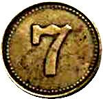 Token - 7 (type 1) – obverse
