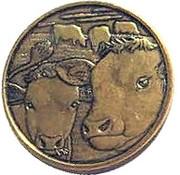 Mint Token (Cow) – obverse