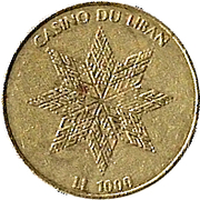 1000 Livres - Casino Du Liban – obverse