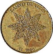 1000 Livres - Casino Du Liban -  reverse