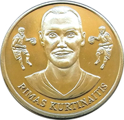 Official Lithuanian Basketball Players Medal Collection (Rimas Kurtinaitis) – obverse