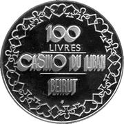 100 Livres - Casino Du Liban – reverse