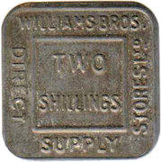 2 Shillings - William Bros. Direct Supply Stores Ltd – obverse