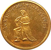 2 Kaziu (Saint Casimir the Patron of Lithuania) – obverse