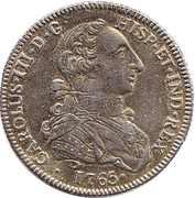 Replica - 8 Escudos Charles III 1765 – obverse