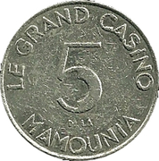 Token - La Mamounia Grand Casino – reverse