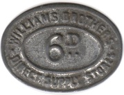 6 Pence - Williams Brothers Direct Supply Stores – obverse