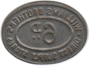 6 Pence - Williams Brothers Direct Supply Stores – reverse