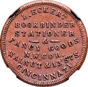 Cent - Civil War Merchant Token - L. Eckert, Book Binder (Cincinnati, OH) – obverse