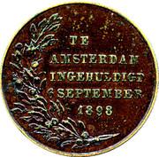 Medal - Wilhelmina (Inauguration 1898) – reverse