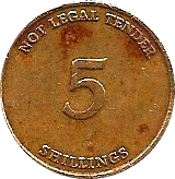 5 Shillings Telephone Token - Uganda Posts – reverse