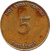 5 Shillings Telephone Token - Uganda Posts – reverse