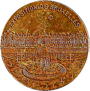 Token - Albert (Brussels International 1910) – reverse