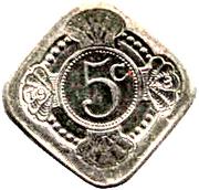 5 Cents - Beatrix (Queen Juliana) – reverse