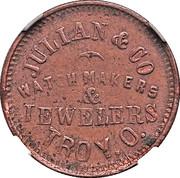 Cent - Civil War Merchant Token - Julian & Co. Watchmaker (Troy, OH) – obverse