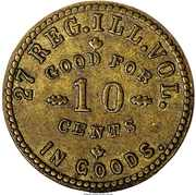 10 Cents - Civil War Sutler Token - John Stanton (27th Reg Illinois Vols) – obverse