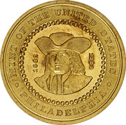 Dollar - Pennsylvania Bicentennial (William Penn; Type II) – obverse
