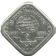 "5 Cents - Beatrix (Wilhelmina, ""Moeder des vaderlands"", Liberation) – reverse"