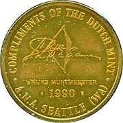 Token - Royal Dutch Mint (A.N.A. Seattle Show) – reverse