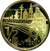 ½ Ruyter - Vlissingen (400th Anniversary Michiel de Ruyter) – reverse