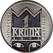 "1 Kroon - Nijmegen (2000th anniversary; N.E.C. ""Goffert Stadion"") – reverse"