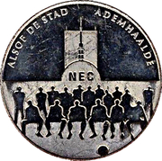 "1 Kroon - Nijmegen (2000th anniversary; N.E.C. ""Goffert Stadion"") – obverse"