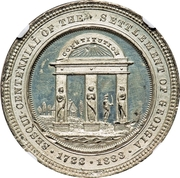 Dollar - Sesqui Centennial of the Settlement of Georgia – reverse