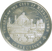 Dollar - Middletown Centennial (Middletown, CT) – reverse