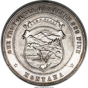 Dollar - Montana Silver Association (Helena, MT) – obverse