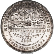 Dollar - Montana Silver Association (Helena, MT) – reverse