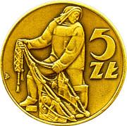 5 Złotych (10th Anniversary Polish coins catalog) – obverse