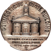 Dollar - U.S. Sesquicentennial Exposition in Philadelphia (Connecticut) – obverse