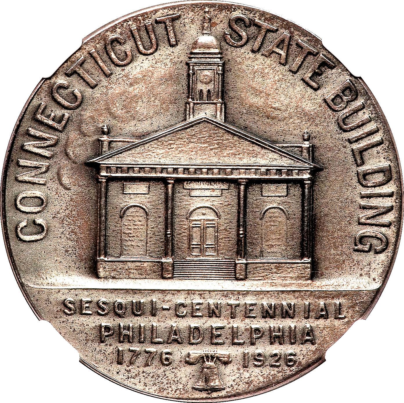 1926 MEDALLION SESQUI-CENTENNIAL PHILADELPHIA PENNSYLVANIA CT STATE BUILDING