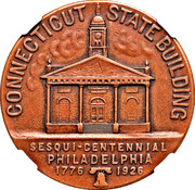 Dollar - U.S. Sesquicentennial Exposition in Philadelphia (Connecticut) – obverse
