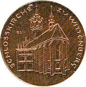 Token - 450 years of Reformation (Schlossskirche zu Wittenberg) – obverse