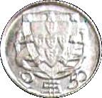 2.50 Escudos (Miniature coin; Aluminium) – reverse