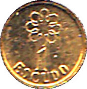 1 Escudo (Miniature coin) – reverse