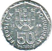 50 Escudos (Miniature coin) – obverse