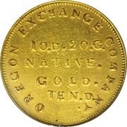10 Dollars - Oregon Exchange Company (Beaver) – reverse