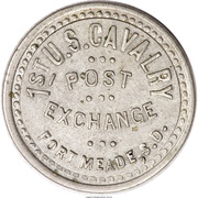 5 Cents - 1st U.S. Cavalry Post Exchange (Fort Meade, South Dakota) – obverse