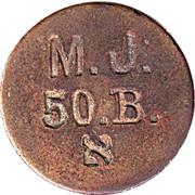 Token - M. J. 50. B. – obverse