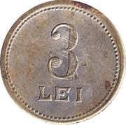 Token - 3 Lei - Jean Martinegli – reverse