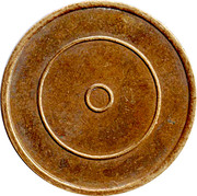 Brass Token with 2 concentric rings – obverse