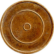 Brass Token with 2 concentric rings – reverse