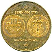 Token - Stargard (3 Pfenning 1747) – reverse
